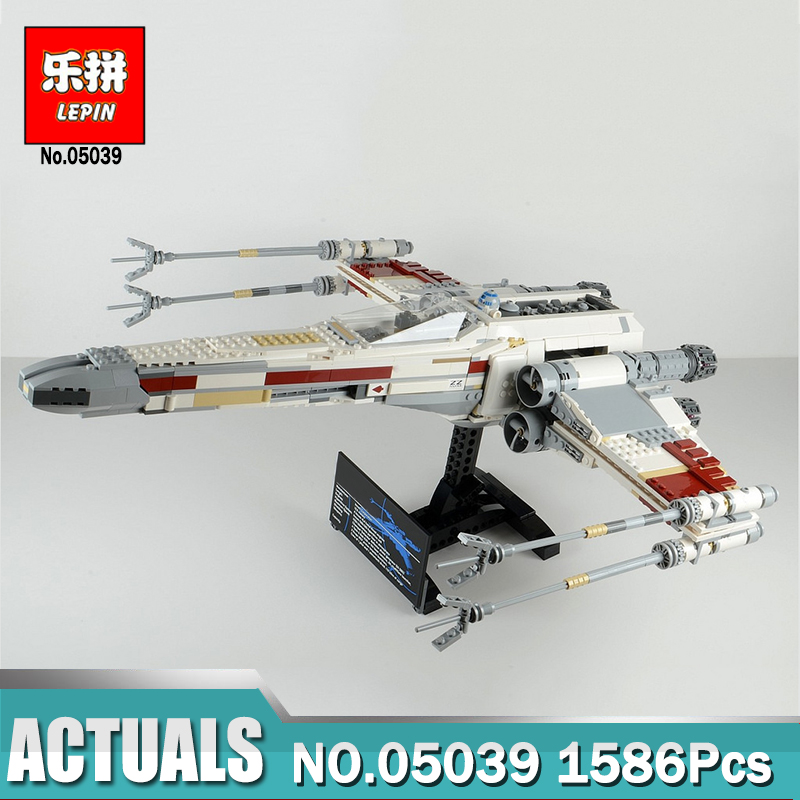 Lepin 05039 Star Series Wars The Red Five X Toys Wing Fighter Model compatible Legoinglys 10240 Building Blocks Gifts for Kids new 1685pcs lepin 05036 1685pcs star series tie building fighter educational blocks bricks toys compatible with 75095 wars
