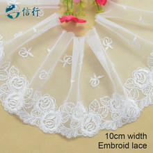 10cm width  embroid  lace sewing ribbon guipure trims or fabric warp knitting DIY Garment Accessories free shipping#3622