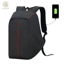 AHRI 2018 New USB Charging Men 15.6inch Laptop Backpacks For Teenager Fashion Male Mochila Leisure Travel Backpack Anti Thief(China)