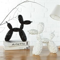 Geometric Bump Balloon Dog Large Resin Sculpture Creative Animal Statue Birthday Gifts Xmas Living Room Wedding Decor Ornaments