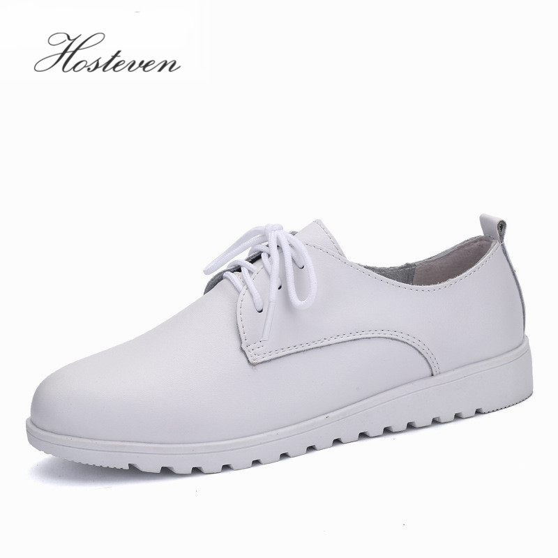 Genuine Leather Women's Shoes Mother Girls Lace Up Fashion Casual Shoes Comfortable Breathable Women Flats Large Size 2017 new women shoes genuine leather casual shoes flats breathable lace up soft fashion brand shoes comfortable round toe white