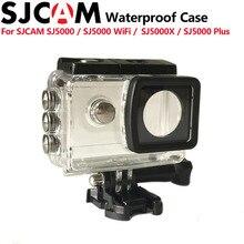 Original sjcam sj5000 mais caso underwater housing mergulho à prova d' água 30 m para acessórios da câmera sj5000 wifi sj5000 mais sj5000x