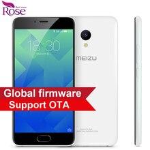 """Original Meizu M5 Mobile Phone MTK MT6750 Octa Core 2GB RAM 16GB ROM 5.2"""" 4G LTE 2.5D 1280*720 13MP Fingerprint ID 3070mA"""