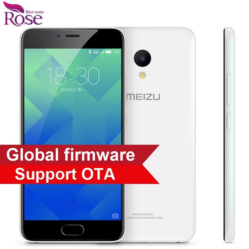 "bilder für Ursprüngliche Meizu M5 Handy MTK MT6750 Octa-core 2 GB RAM 16 GB ROM 5,2 ""4G LTE 2.5D 1280*720 13MP Fingerprint ID 3070mA"
