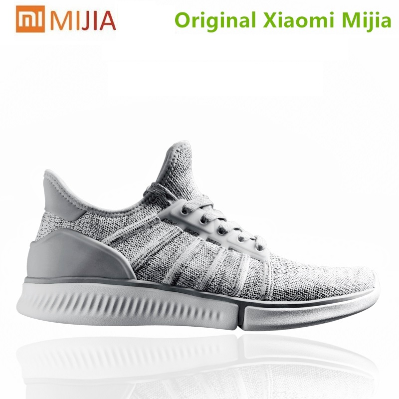 Original Xiaomi Mijia Men Smart Sneaker Breathable Air Mesh mi smart sneakers Sports Shoes Light Free Running Shoes APP Control xiaomi smart shoes mijia running shoes