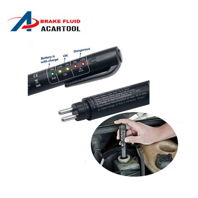 Bir + + Taşınabilir Fren Sıvı Test Mini fren hidroliği test kalemi LED Ekran Test Için Fren Yağ Mositure DOT3 NOKTA 4