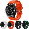 Venda quente pulseiras preto 22mm de luxo nova marca de moda sports silicone pulseira banda cinta para samsung gear s3 fronteira