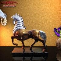 Украшение дома аксессуары Европейская смола имитация лошади к успешному зодиаку счастливый конь украшения ремесла офисное украшение