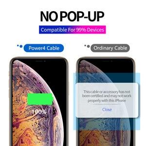 Image 4 - Cabo usb carregador rápido 3 em 1 power4, cabo usb universal para carregamento lightning, iphone, samsung cabo de fio