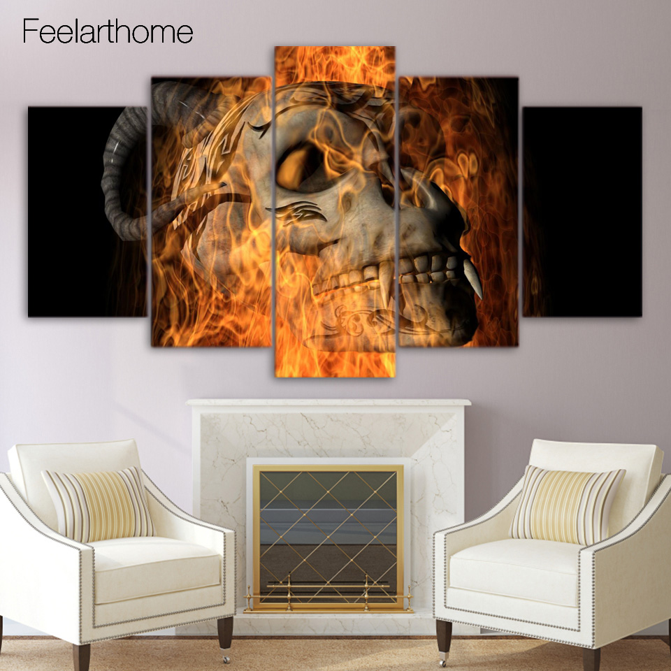 Skull Bedroom Accessories Online Get Cheap Hell Painting Aliexpresscom Alibaba Group