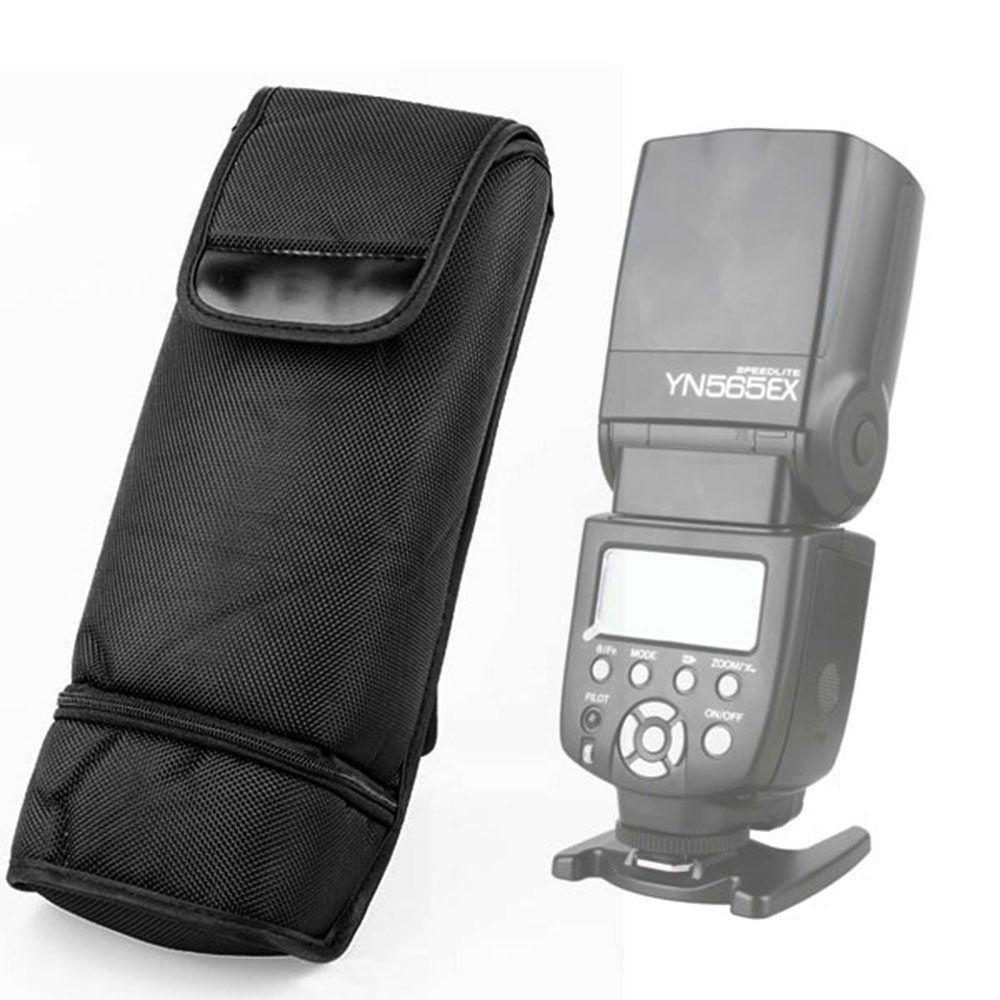 10 pièces Portable noir Nylon sac Flash étui pochette pour Canon 430EX 580EX 430EX II 580EX II DSLR-in Sacs pour appareil photo from Electronique    1