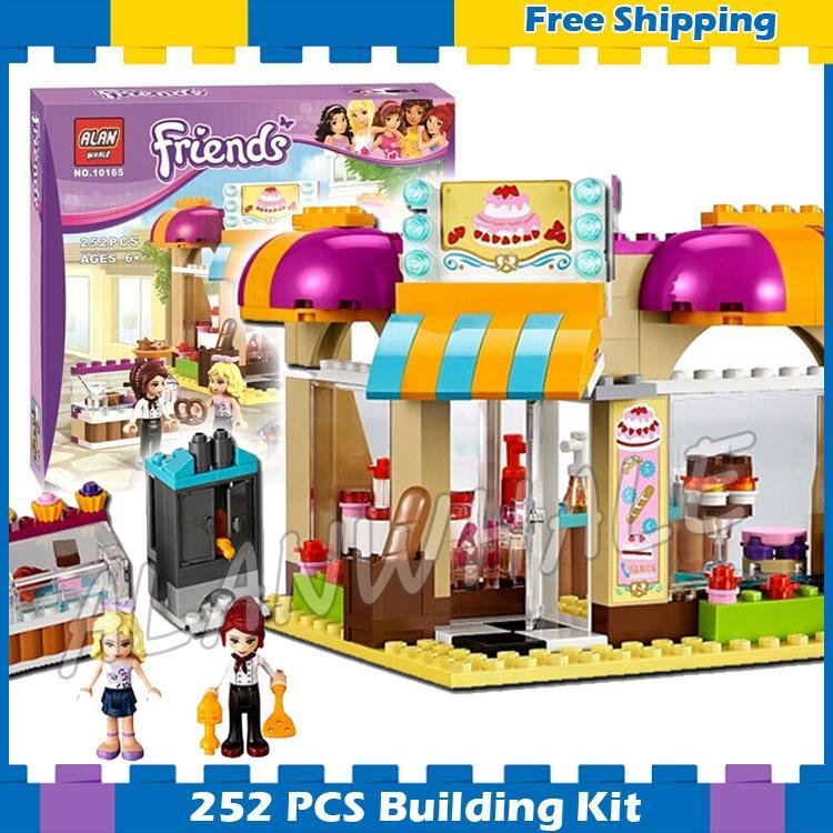 252 шт. Friends heartlake магазин мороженого центр торт ко дню рождения пекарня 10165 DIY модель строительные блоки игрушки, совместимые с Lego