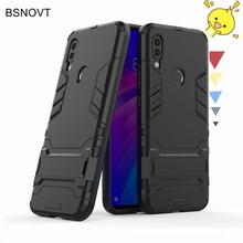 For Xiaomi Redmi 7 Case Shockproof Armor Hard Silicone Rubber PC Anti-knock Phone Cover
