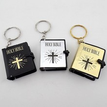 Organizador 1 Pcs Mini Holy Bible Planners Religious Keychain Language In English Israel Chinese Support Customized Wholesale