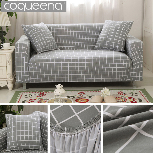 Geometric Stretch Sofa Slipcovers Sectional Arm Couch Sofa Covers For  Single/Double/Three/