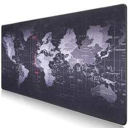 Лидер продаж очень большой коврик для мыши старый мир карта игровой коврик для мыши анти-скольжение натуральный каучук игровой коврик для