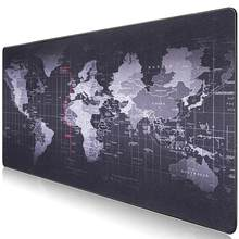 Gaming Mouse Pad Large Mouse Pad Gamer Big Mouse Mat Computer Mousepad World Map Natural Rubber Mause Pad Keyboard Desk Mat Game(China)