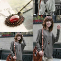 Na120 Vender bem Vintage Bohemia Elliptic Gem Cadeia Sweater Bonito, Colar bonito do Amor