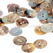 Lot 200 Mother of Pearl Round Shell Sewing Buttons 15mm  , for Sewing, Crafts, Jewellery making, Knitting 7NK93