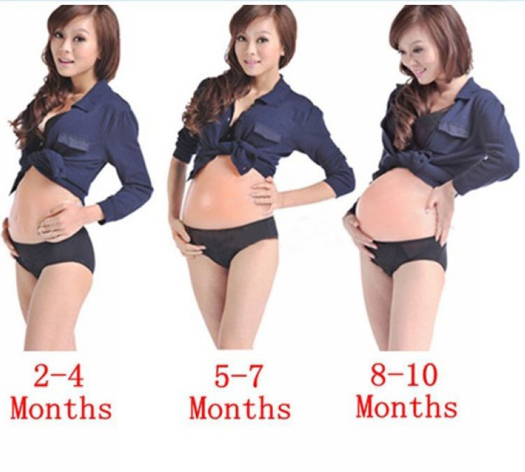 1 X Artificial Fake Silicone Pregnant Belly Baby Bump Doll