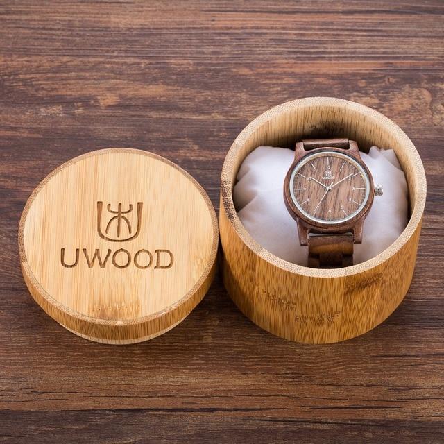929743cc2808 Moda de lujo marca casual negro nogal madera natural Sandalia de madera  relojes de cuarzo para