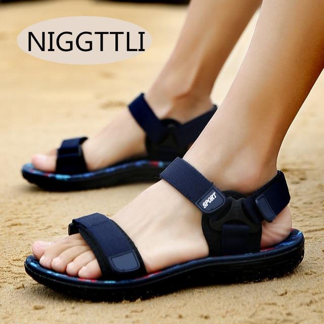 Fashion Sandals Men 2017 Vintage Rome Style Summer Beach Breathable Casual Solid Men Sandals 3 Colors Size 39-44  1625