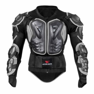 Image 3 - WOSAWE Off Road Motorcycle Armor Alloy Stainless Steel Racing Protective Gear Motorcycle Jacket+Shorts Pants+Knee Pads+Gloves
