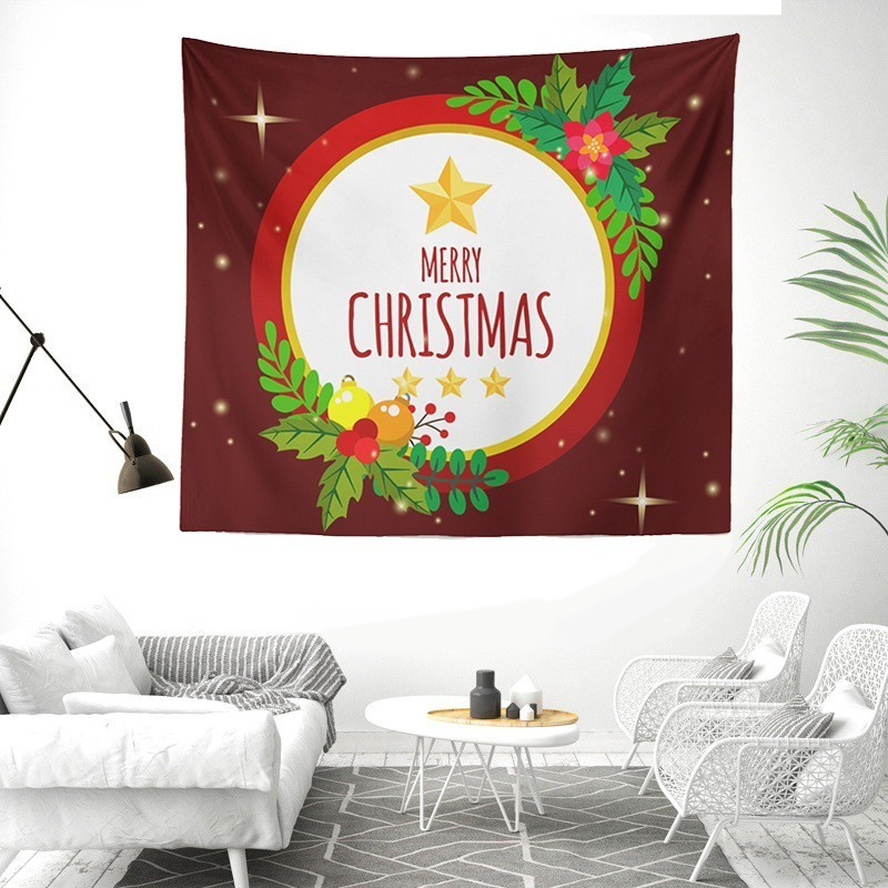 New Year Tapestry Wall Hanging Hippie Boho Home Decor Christmas Tapestry Wall Fabric Psychedelic Tapiz Carpet Throw Table Cloth in Tapestry from Home Garden