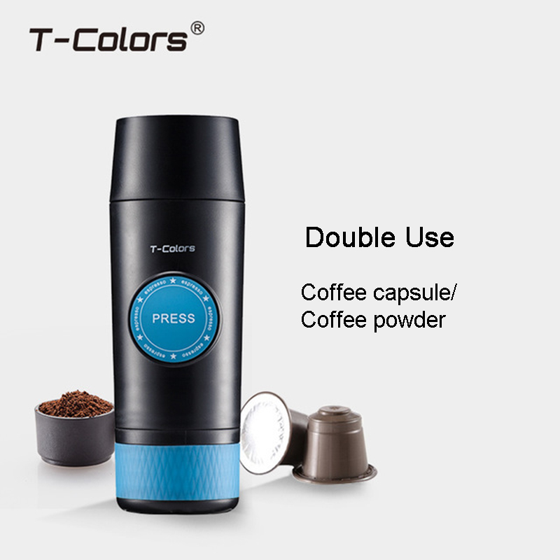 Image 2 - Portable Nespresso Machine Mini Coffee Maker Hot and Cold Extraction usb Electric Coffee Powder&Capsule Outdoor Home Travel-in Coffee Makers from Home Appliances