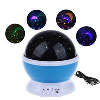 2018 New Stars Starry Sky LED Night Light Projector Moon Novelty Table Night Lamp Battery USB Night Light For Children