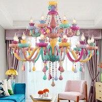 Многоцветный Люстра для детская спальня детская люстра освещения K9 Кристалл Итальянский Хрустальные люстры светильник