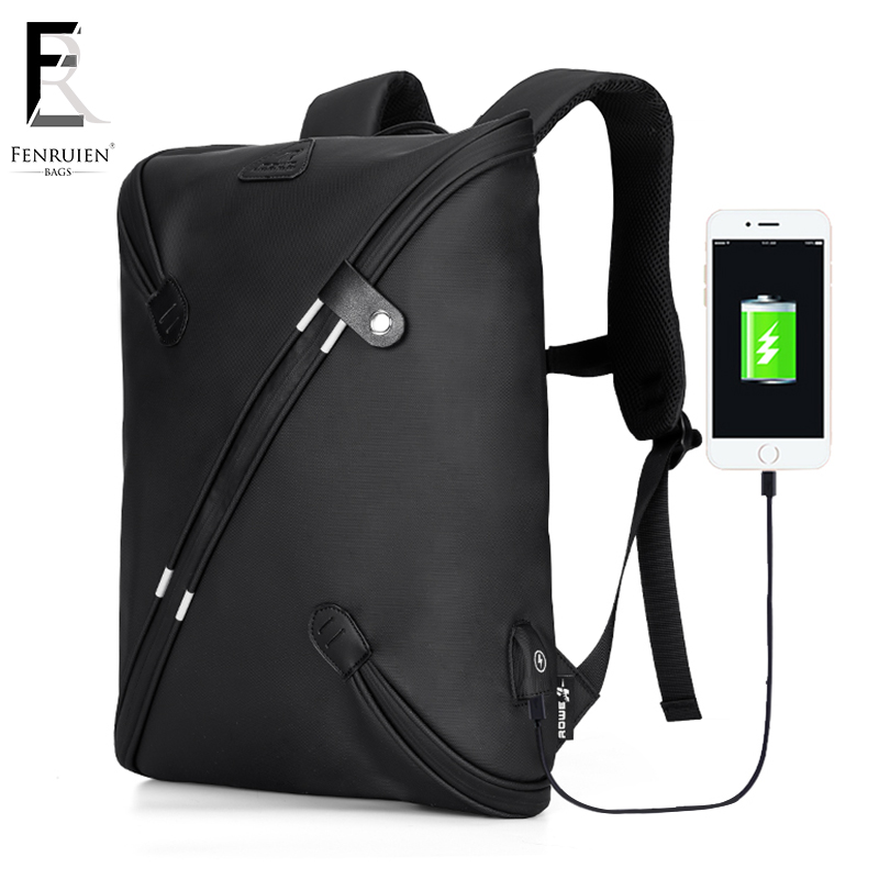 FRN Fashion Multifunction Laptop Backpack For Men Business Waterproof Backpack USB Charging Bag Casual Travel Backpack Men frn new high capacity casual backpack men usb charging business laptop backpack male mochila fashion travel backpack bag