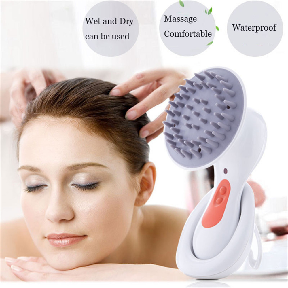 Electric Head Scalp Massager Brain Relaxation Relax Massager Headache Stress Relieve Prevent hair loss Health Care chargeable brain massage instrument head kneading massager head massager prevent hair loss promote hair growth