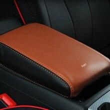 Интерьер автомобиля центральный подлокотник box Защитная крышка кожа Защитная панель для Audi A3/A4 B9/Q5 подкладке изменения автомобиль аксессуары