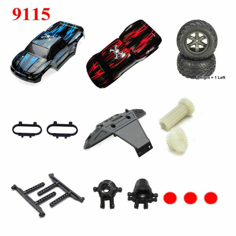 RC Car JY 9115 RC Monster części zamienne do samochodów ciężarowych koło, ładowarka, akumulator, nadajnik, odbiornik, pokrowiec na samochód zapasowe części zamienne 1