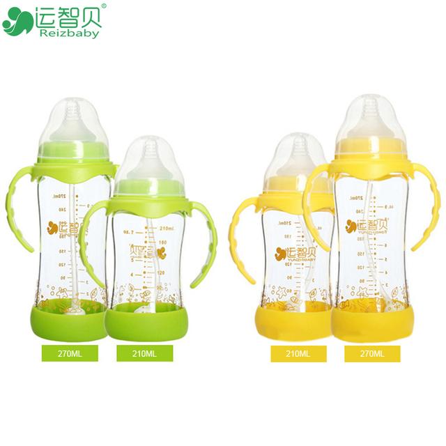 210 ml copo de água de 270 ml de leite seguro bpa livre bebê bebês garrafa copo de alimentação mamilos recém-nascidos definidos para o bebê crianças lidar com acessórios