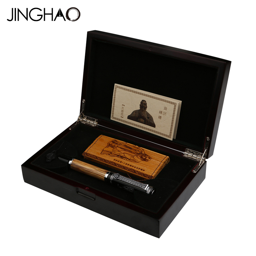 High-end Duke Confucius Series Fountain Pen Bamboo Metal 0.7mm Iridium Nib Gift Pens with a Luxury Original Gift Case 550 554 model pen bamboo pen fountain sets gift for christmas new year wedding gift pen