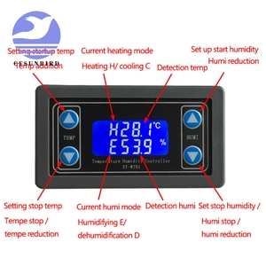 Image 5 - Thermostat Temperature Humidity Control Thermometer Hygrometer Controller Module Relay DC 12V LED Digital Display Dual Output