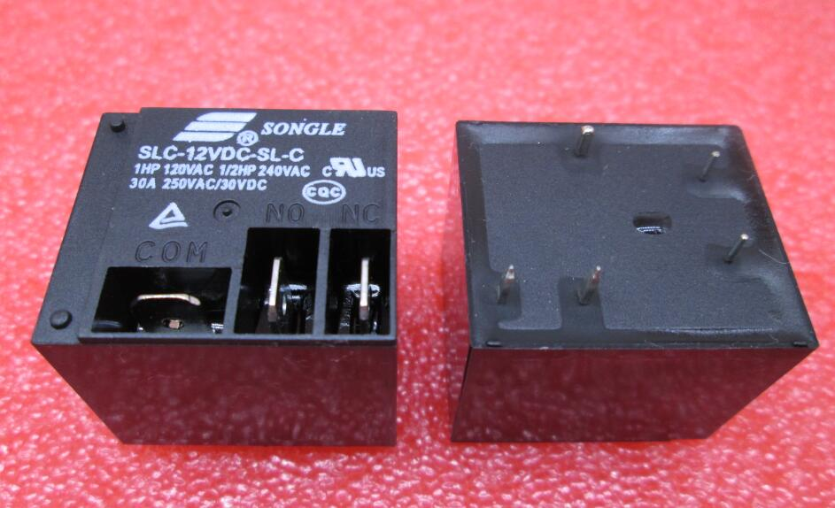 цена на HOT NEW 12V relay SLC-12VDC-SL-C SLC-12VDC-SL SLC-12VDC SLC 12VDC 12V 30A 250VAC SONGLE DIP5