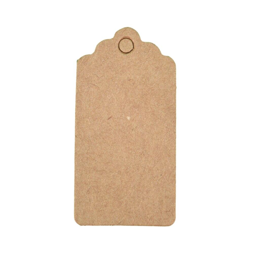 100 шт 4x2 см Крафт ценники для одежды висят DIY Подарок Рождественские принадлежности для украшения свадебной вечеринки прямоугольная бумажная этикетка - Цвет: Brown