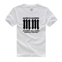 Marilyn Manson Logo Metal Rock Music Printed Mens Men T Shirt Tshirt USA Ohio Fashion 2016