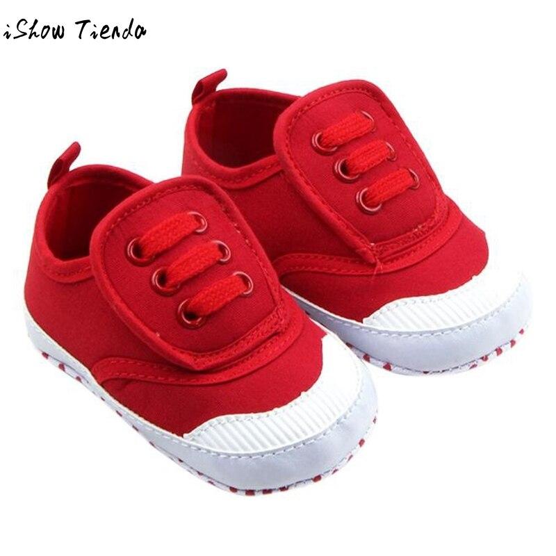 NEWEST Baby Shoes Solid Color Bandage Lacing Up First walker Anti Slip Infant BabySoft S ...