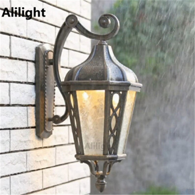 Vintage High Quality Outdoor Lighting Wall Light Metal Garden Porch Lights  Luxury Villa Sconces Led Waterproof