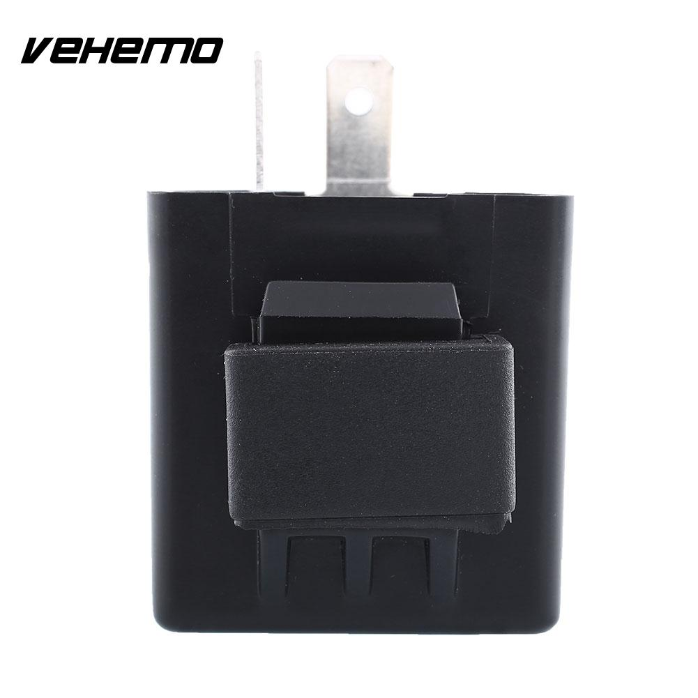 Vehemo 2 Pin Flasher Blinker Motorcycle LED Indicator Turn Signal Light Relays