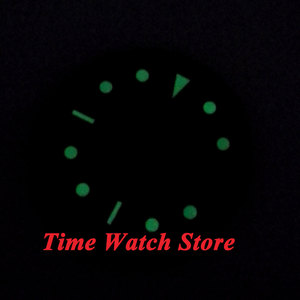 Image 3 - 30.4mm black sterial dial luminous rose Gold marks Watch Dial fit 2824 2836 Automatic Movement D24