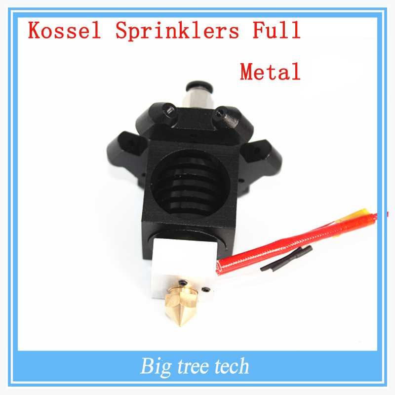 ФОТО 3D printer 3D parts high quality and latest desig for Kossel sprinklers Full Metal