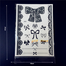 25 Style Waterproof Sexy Black Henna Tattoo Lace Bow Bowknot Decals For Women Body Art Fake Bracelet Temporary Tattoo Stickers