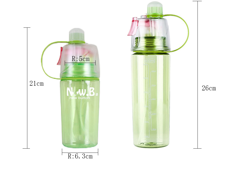 HTB1DOeGXET1gK0jSZFrq6ANCXXaB New 400/600Ml 3 Color Solid Plastic Spray Cool Summer Sport Water Bottle Portable Climbing Outdoor Bike Shaker My Water Bottles