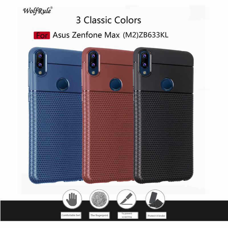 WolfRule Asus Zenfone Max (M2) Case Bumper Triangle Pattern Soft Mobile Phone Accessories Case For Asus Zenfone Max (M2) ZB633KL