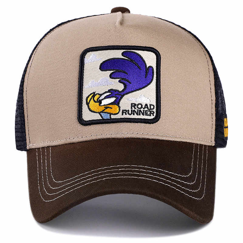 Новая брендовая Аниме Бейсболка с мультипликацией Кепка Дорожный Бегун вышитая хлопковая бейсбольная кепка для мужчин и женщин хип-хоп папа шляпа Дальнобойщик сетчатая шапка